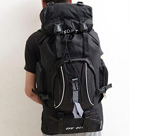 Nouveau voyage plein air sac à dos de randonnée sac à dos outdoor grand sac pour hommes et femmes , black