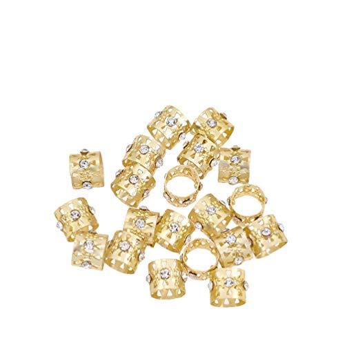 Lychee Women Dreadlocks Beads Rhinestone Hair Ring Decoration Braiding Hair Braid Cuff Clip