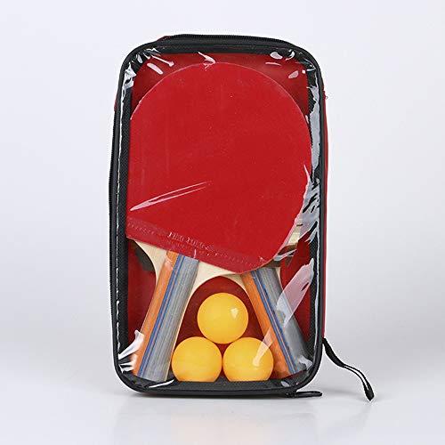 Gaocunh - Juego de raquetas de ping pong profesional con 2 bates y 3 pelotas en bolsa de transporte, palas de tenis de mesa y pelotas con funda ideal para la escuela, el hogar, el club de deportes, la oficina, Hombre, Mango largo