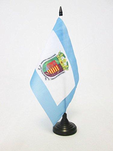 AZ FLAG Bandera de Mesa de la Provincia DE MÁLAGA 21x14cm - BANDERINA de DESPACHO MÁLAGA ENANDALUCÍA 14 x 21 cm