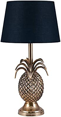 Pacific Lifestyle Metal Pineapple Table Lamp, Honey Gold