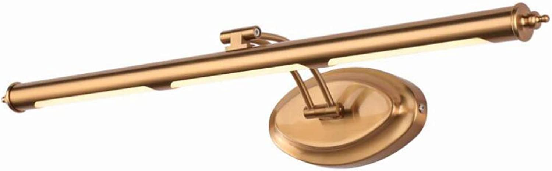 AOHMG Spiegellampen Bad, Modern Bronze Wasserdicht Spiegelleuchte Badleuchte, Wohnzimmer-LED Badleuchte Badlampe,45cm-9W