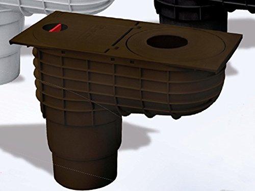 Q3 Bac de drainage pour gouttière Marron