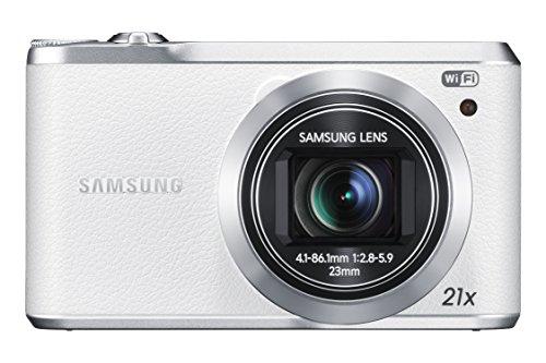 Samsung WB380F Smart-Digitalkamera (16 Megapixel, 21-fach opt. Zoom, 7,6 cm (3 Zoll) Touchscreen, Full HD Video, WLAN) weiß