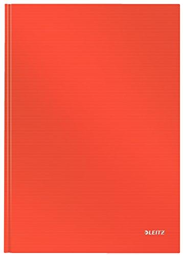 LEITZ Quaderno Solid cop. rigida 80 fogli a quadretti A4 - Rosso chiaro - 46640020