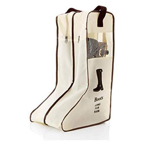 AGGIEYOU Sac de Rangement de Sac de Cabine de Sacs de Rangement avec Le Sac de Coffre de Chaussure de Tirette, Type Long Beige