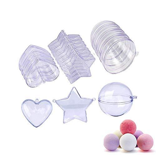 Twshiny Bomba Stampo da Bagno in Plastica Fai Da Te di Natale Palline Ornamento, 3 Taglie, 15 Set