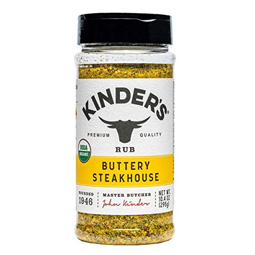 Kinder's Organic Buttery Steakhouse Seasoning Rub, 10.4 Ounce