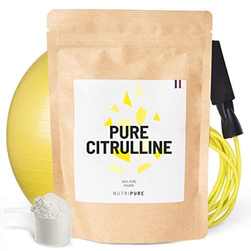 L-CITRULLINE BioKyowa® végétale • Idéale pour la congestion musculaire pour l'entraînement • Précurseur de L Arginine • Sans malate de citrulline, sans adjuvants, sans édulcorant • NUTRIPURE