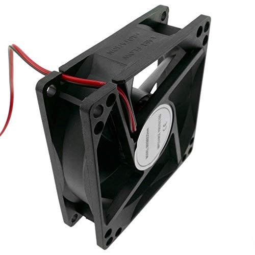 BeMatik - Ventilador de chasis 80x80x25 mm de 5 VDC para caja de ordenador