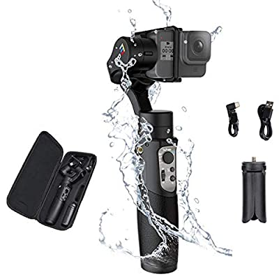 Hohem iSteady Pro 3, 3-Axis Handheld Gimbal Stabilizer for Action Cameras Hero 8/7/6/5/4/3 DJI OSMO Action Insta360 One R Sony RX0 YI Cam, Action Cameras Control 12hrs Battery Life by hohem