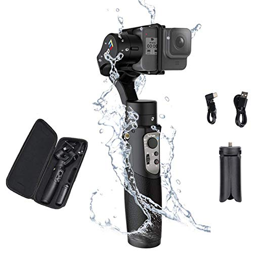 Hohem iSteady Pro 3, 3-Axis Handheld Gimbal Stabilizer for Action Cameras Hero 8/7/6/5/4/3 DJI OSMO Action Insta360 One R Sony RX0 YI Cam, Action Cameras Control 12hrs Battery Life
