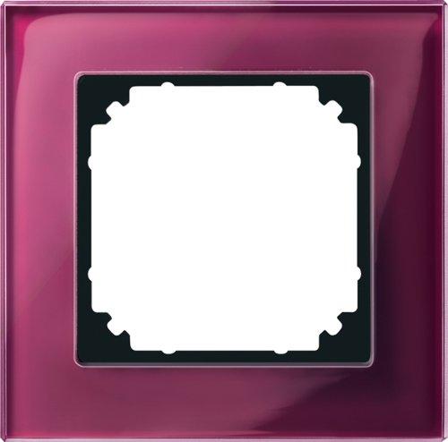 Merten echt glazen frame 489106 1-voudig Rubin M-PLAN