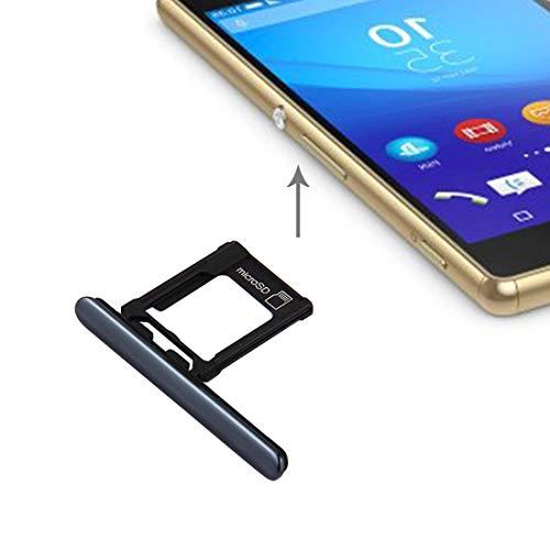 Zhouzl Sony Repuesto Micro SD Card Tray + Card Slot Port Dust Plug for Sony Xperia XZ Premium (Versione Single SIM) (Nero) Sony Repuesto (Colore : Black)