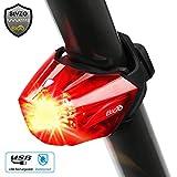 【STVZO-Zulassung】Diese Fahrrad Rücklicht wurde von StVZO genehmigt, , LED-Anzeige bei niedriger Batterie. Sichtbar für die Zertifizierungsnummer: K1112. Das Rücklicht besteht aus superhelles COB LED Licht, sie bei Fahrten bei schwachem Licht oder in ...