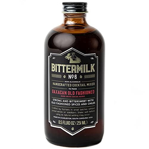 Bittermilk No.6 Oaxacan Old Fashioned Mix – Old Fashioned Syrup - All Natural Handcrafted Cocktail Mixer – Just Add Mezcal or Whiskey, Makes 17 Cocktails