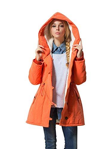 Eleter Women's Winter Warm Coat With Drawstring