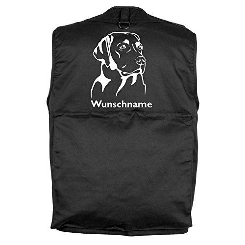 Tierisch-tolle Geschenke Labrador - Hundesportweste mit Rückentasche und Namen (XS)