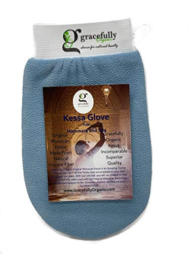 The Traditional, ORIGINAL Moroccan Kessa Hammam & Spa Scrubbing, Exfoliating Glove. Two-Layered, Superior, Long Lasting Quality.