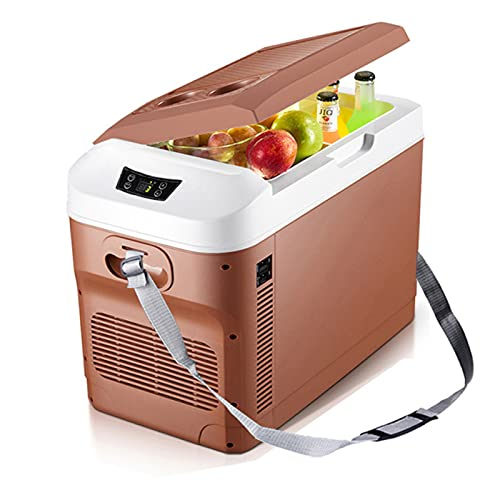 YAHAO Refrigerador Portátil para Coche,15L Coche Hogar Mini Refrigerador Refrigeradores DC12 / 24 V / 220 V Congelador Enfriador Calentador Mantener Caliente Fresco Camping -18~65 Grados