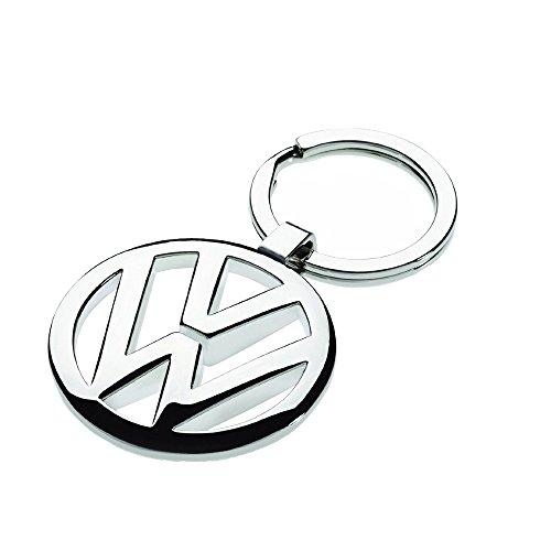 Volkswagen 000087908 Schlüsselanhänger VW-Logo, Silber-Metallic, ca. 35 mm