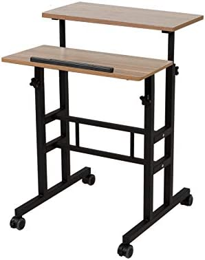 SDADI 2 Inches Carpet Wheels Mobile Standing Desk Stand Up Desk Height Adjustable Home Office product image