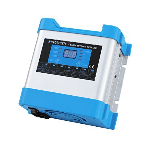 Cargador de batería automático inteligente de 10 A 12 V para carga segura sin supervisión de una o varias baterías de 12 V de 230 V CA.