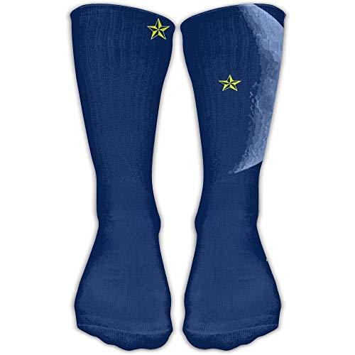 Klassische Socken für Damen & Herren, Neongrün, 30 cm lang, Einheitsgröße