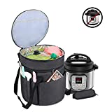 Luxja Carrying Bag Compatible with Instant Pot (3 Quart), Travel Tote Bag for 3 Quart Pressure Cooker and Extra Accessories, Black (Bag Only)