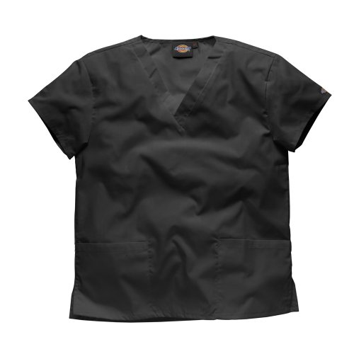 Dickies Workwear Schlupfhemd Medizin 2 Taschen mit V-Ausschnitt L Schwarz