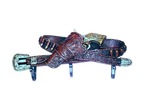 Gancho 3Belt with Gun Western Wild West–Perchero Western Decorativo Cinturón