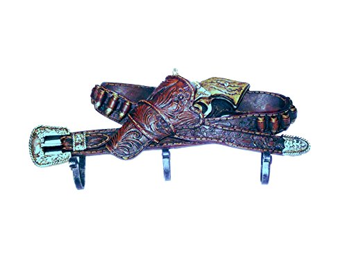 Gancho 3 Belt with Gun Western Wild West – Perchero Western Decorativo Cinturón