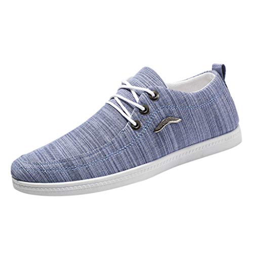 Review Of Kiminana Men Comfy Breathable Canvas Shoes Fashion Flat Loafers Outdoor Casual Single Shoe...