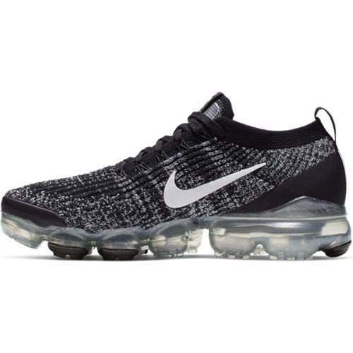Nike W Air Vapormax Flyknit 3 (Black/White-Metallic Silver 7W)