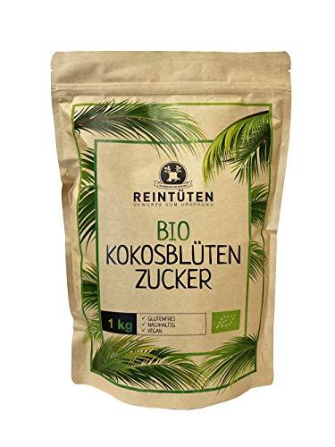 Reintüten BIO KOKOSBLÜTENZUCKER 1 KG, Zucker unraffiniert von Kleinbauern aus Java, Faires Projekt, Kokosbluetenzucker BIO (coconut blossom sugar) 1000 g
