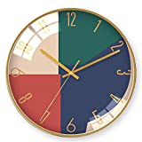 JUNDY Reloj de Pared, Reloj de Cocina,Ideal para la Casa Oficina Restaurante,Decorativo para el hogar Reloj de Pared nórdico salón Moderno 19 14 Pulgadas