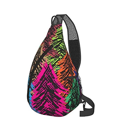 ZHOUWE Mochila bandolera de los árboles del bolso de la honda, mochila de los deportes del senderismo del bolso del hombro, Negro, Talla única