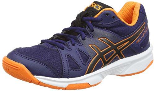 ASICS Gel-Upcourt GS, Zapatillas de Voleibol Unisex-niños, Azul (Navy/Black/Hot Orange 5090), 35