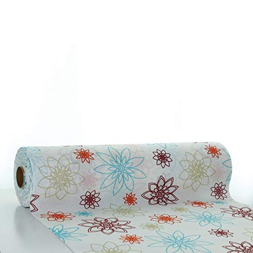 Linclass® Airlaid tafelloper, 40 cm x 24 m, op rol van stof, eenmalig tafelkleed voor bruiloft en feestjes, wit