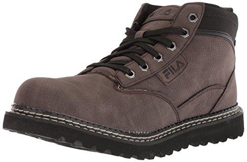 Fila Men's GRUNSON Fashion Boot, Espresso/Black/Dark Silver, 11 Medium US