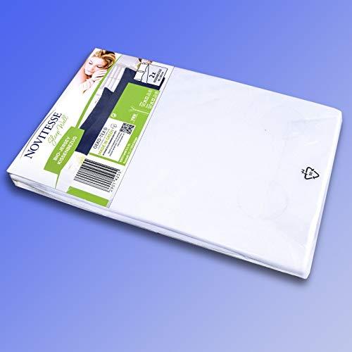 Novitesse Sleep Well 2 x Jersey-Kissenbezug weiß 40 × 80 cm reine Baumwolle Oeko-Tex GOTS