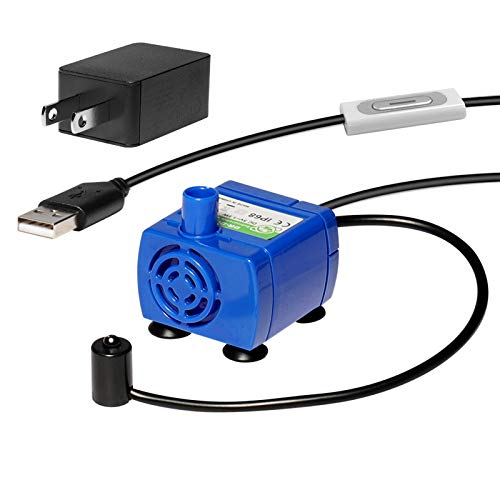Replacement Pump for Cat Water Fountain Ultra Quiet Long Lifespan with Adaptor