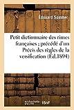 Petit dictionnaire des rimes françaises...