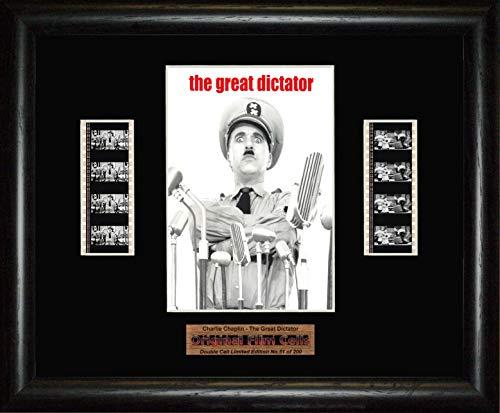 Charlie Chaplin–Der große Diktator–gerahmtes Doppel Filmstreifen Bild (BD)
