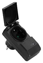 MANAX MX-RCS240 Funksteckdosen-System Starterset komplett, 4-Kanal (4x Funksteckdose, 1x Fernbedienung), Innenraum/Trockenraum, IP20, weiß
