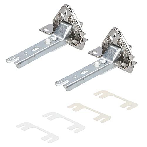 Kenekos - Deurscharnierset compatibel met koelkast Bosch/Siemens 268698/00268698, Neff, Constructa, Balay, Whirlpool 481241718776, Bauknecht, Küppersbusch 420189, Miele 2285121-set van 2