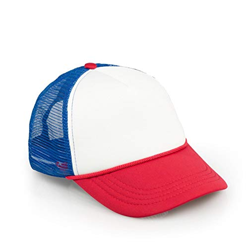 toynk Stranger Things Mesh Red White & Blue Vintage Mesh Trucker Cap