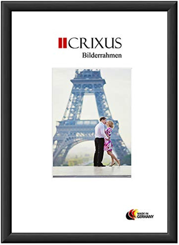 CRIXUS Crixus38M Bilderrahmen für 100 x 130 cm Bilder, Farbe  Schwarz-Matt, Holzrahmen MDF mit Acryl-Glas, Rahmen Breite  38mm, Aussenma  105,6 x 135,6 cm
