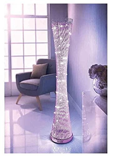 Color Cambio de Aluminio LED Espiral de pie Lámpara de pie Atmósfera Moderna lámpara de pie 360 Grados Espiral Luz de Sombra para el Dormitorio Estudio de Oficina Habitación (Color : A)