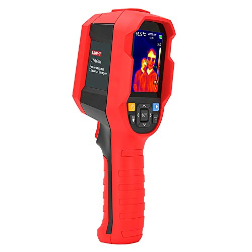UNI-T UTi165H - Termómetro infrarrojo para cámara de imágenes térmicas de 30 °C a 45 °C, medidor de temperatura de alta precisión – Análisis de software de PC Tipo-C USB de carga